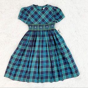 EdgeHill collection puff sleeve plaid smock dress